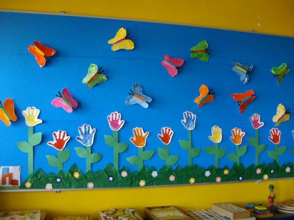 Mural de primavera kindergarten pinterest murales de for Decoracion primavera manualidades