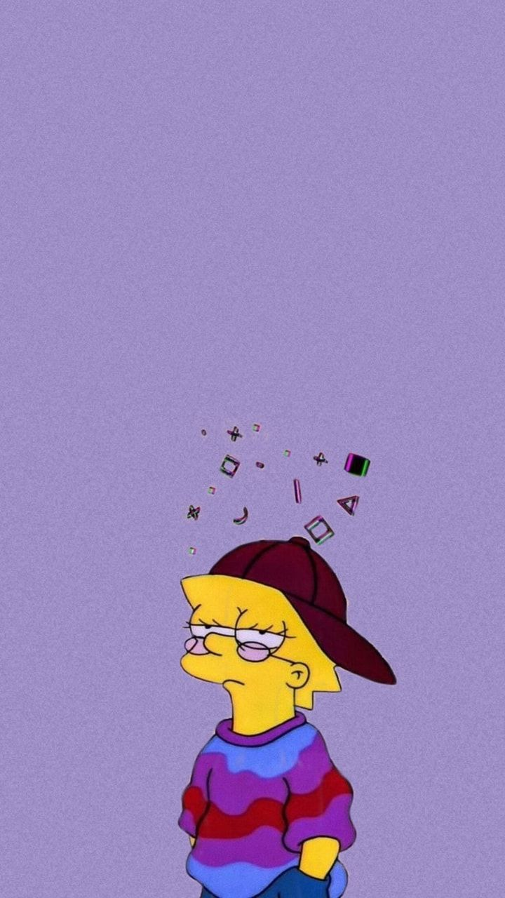 Lisa Simpson wallpaper (purple version) on We Heart It