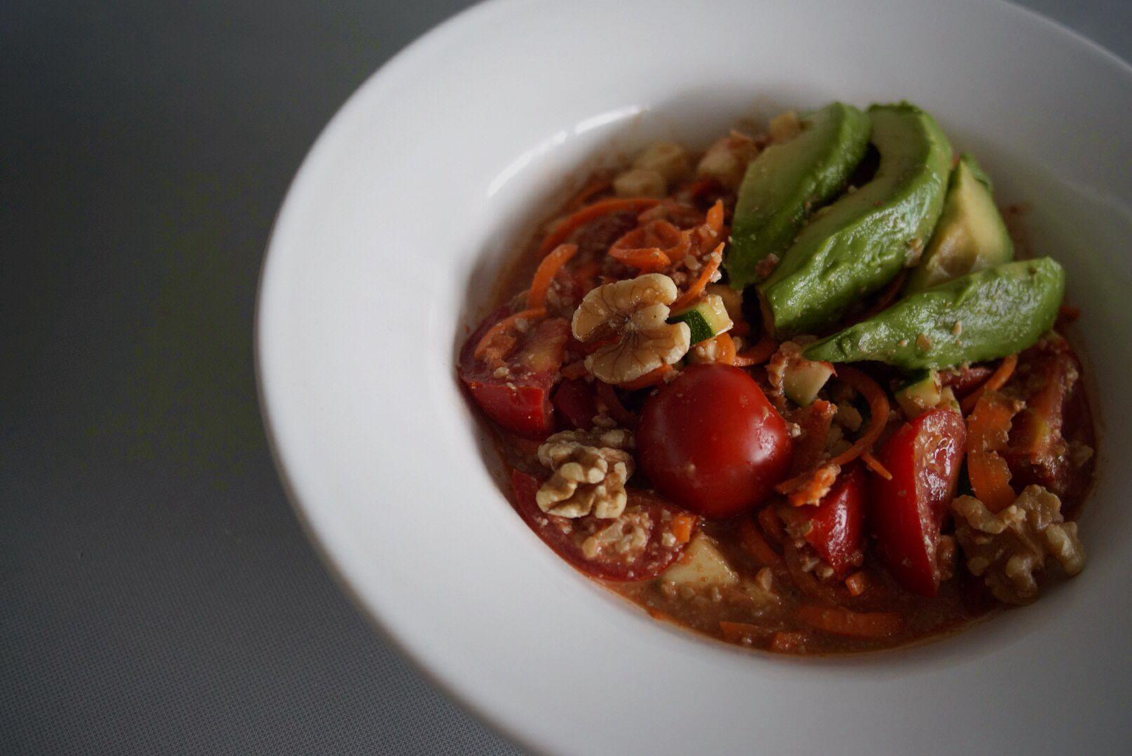 Raw chili sin carne #vegan # healthfood