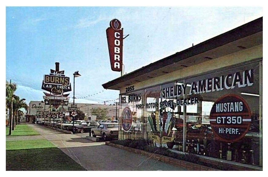 1960's Mel Burns Ford Dealership, Long Beach, California