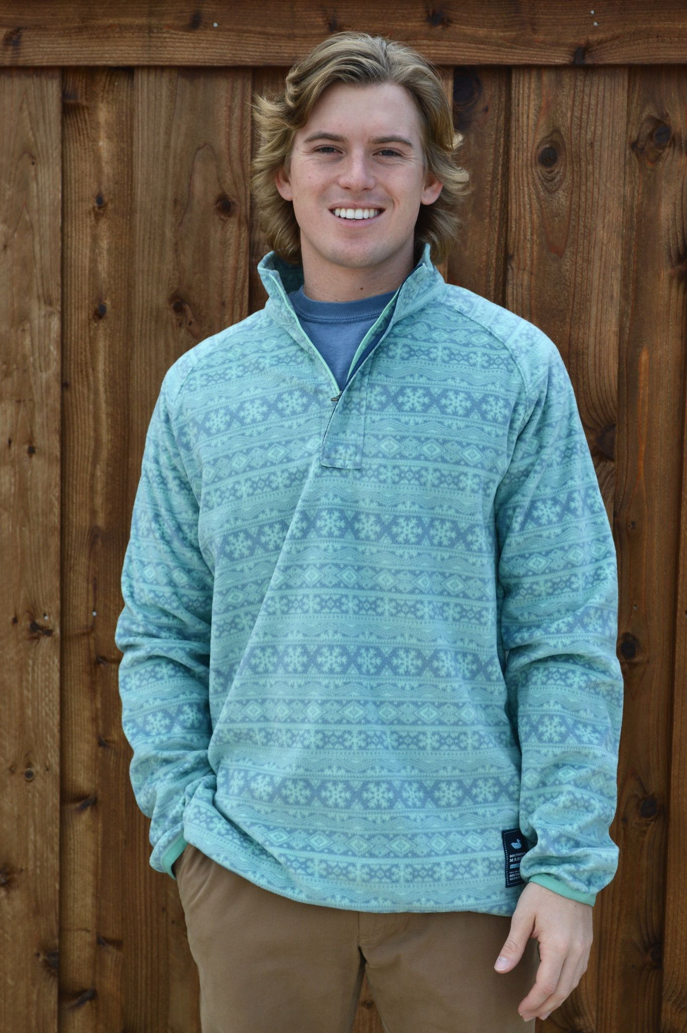 Southern Marsh Monmouth Flurry Fleece 1/4 Zip Pullover- Slate and ...