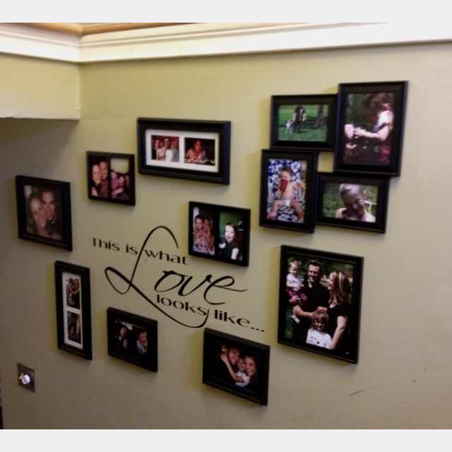 """Finished my wall! """"This is what love looks like..."""""""