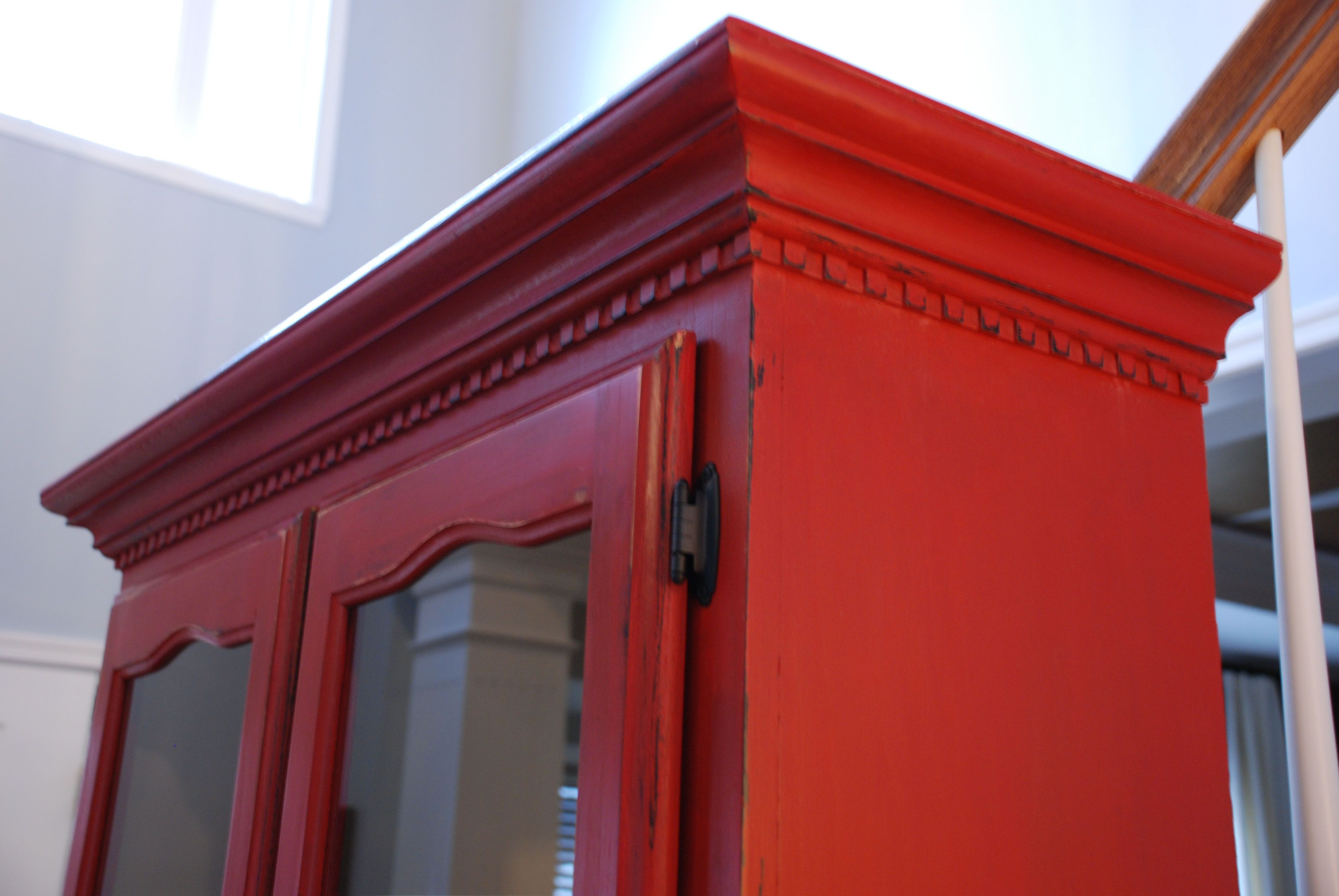 chalk painted | Red chalk paint, Red buffet, Chalk paint