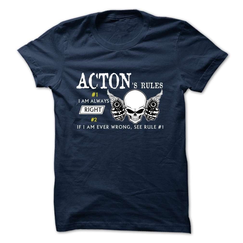 ACTON 웃 유 -Rule TeamACTONt shirts, tee shirts