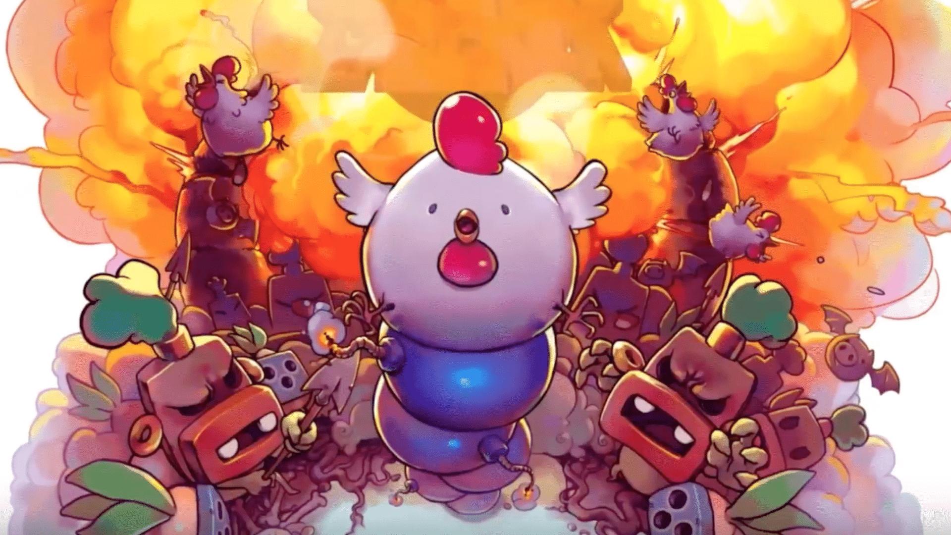 Lay explosive eggs in Bomb Chicken Nintendo, Eieren