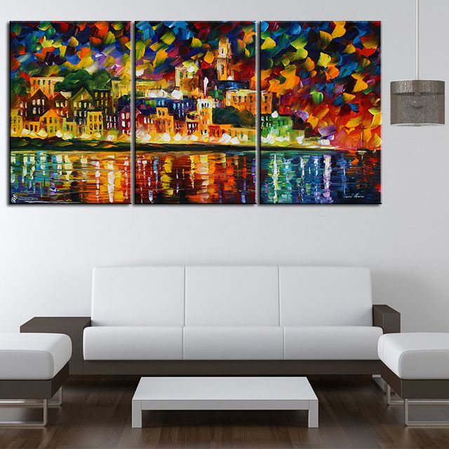 HD Print Oil Painting Home Decor on Canvas Sin City Multiple Size Options