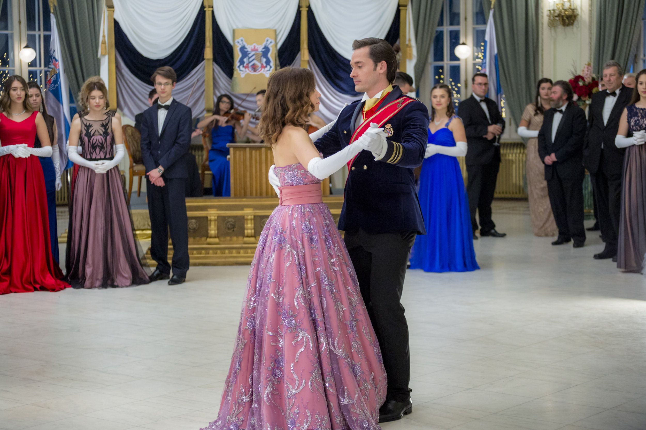 Check Out The Photo Gallery From The Hallmark Channel Original Movie Royal Matchmaker Starring Joy Lenz Wi Romance Movies Bethany Joy Lenz Beautiful Dresses