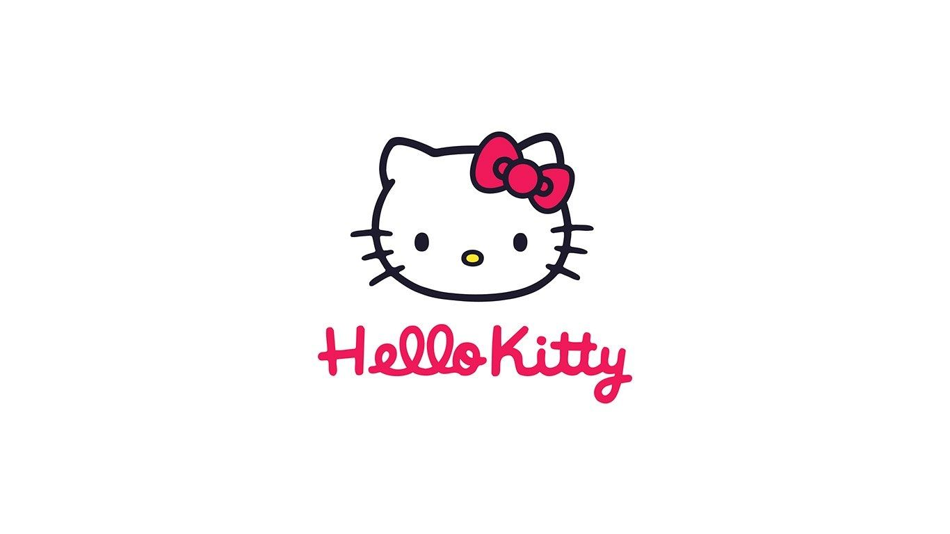 Wallpaper For Desktop Laptop Aq67 Hello Kitty Logo Art Within Brilliant Hello Kitty Background White Hello Kitty Hello Kitty Wallpaper Hello Kitty Art