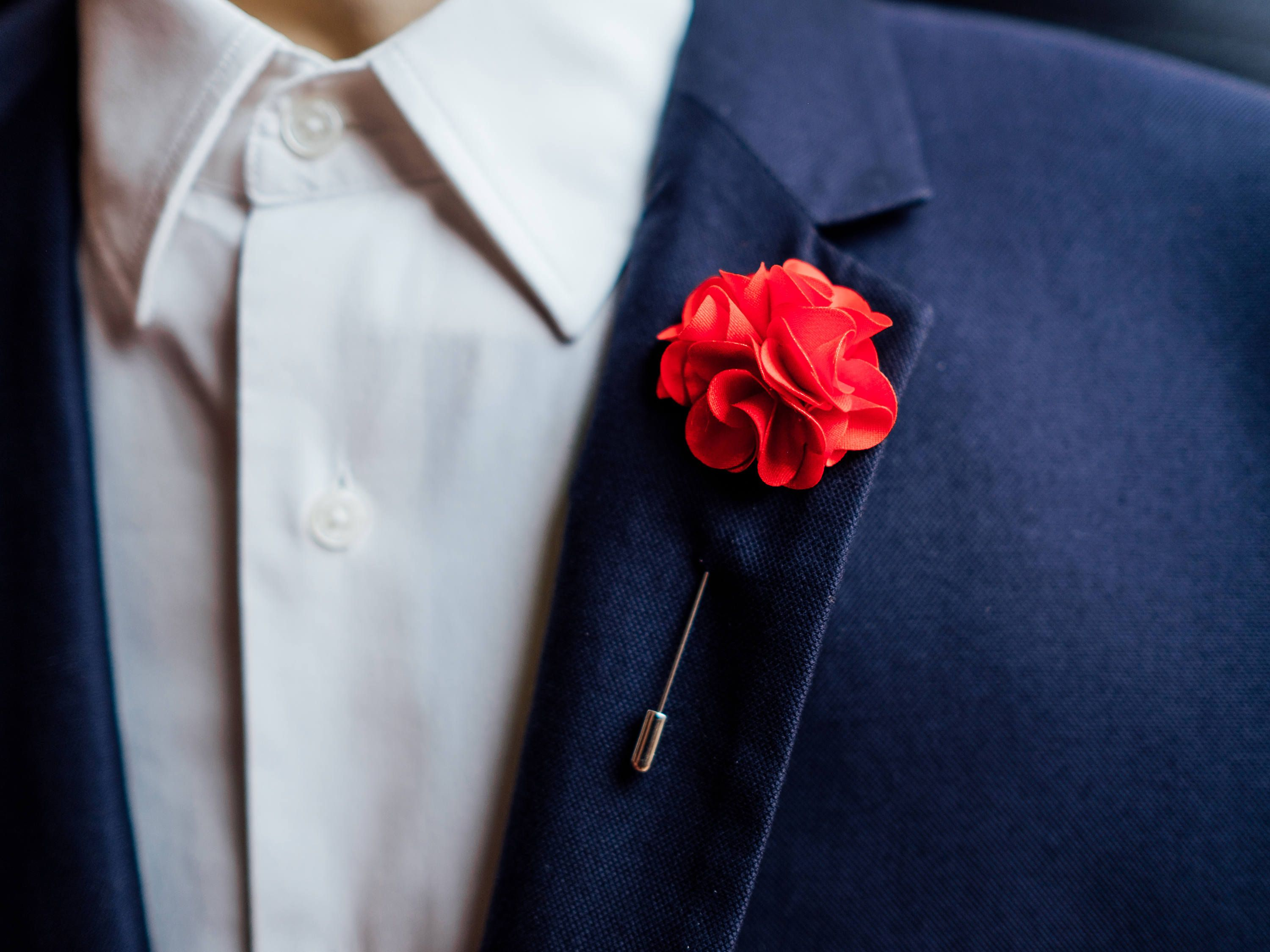 Boutonniere Groom, Rose Pin Lapel Pin Wedding Flowers