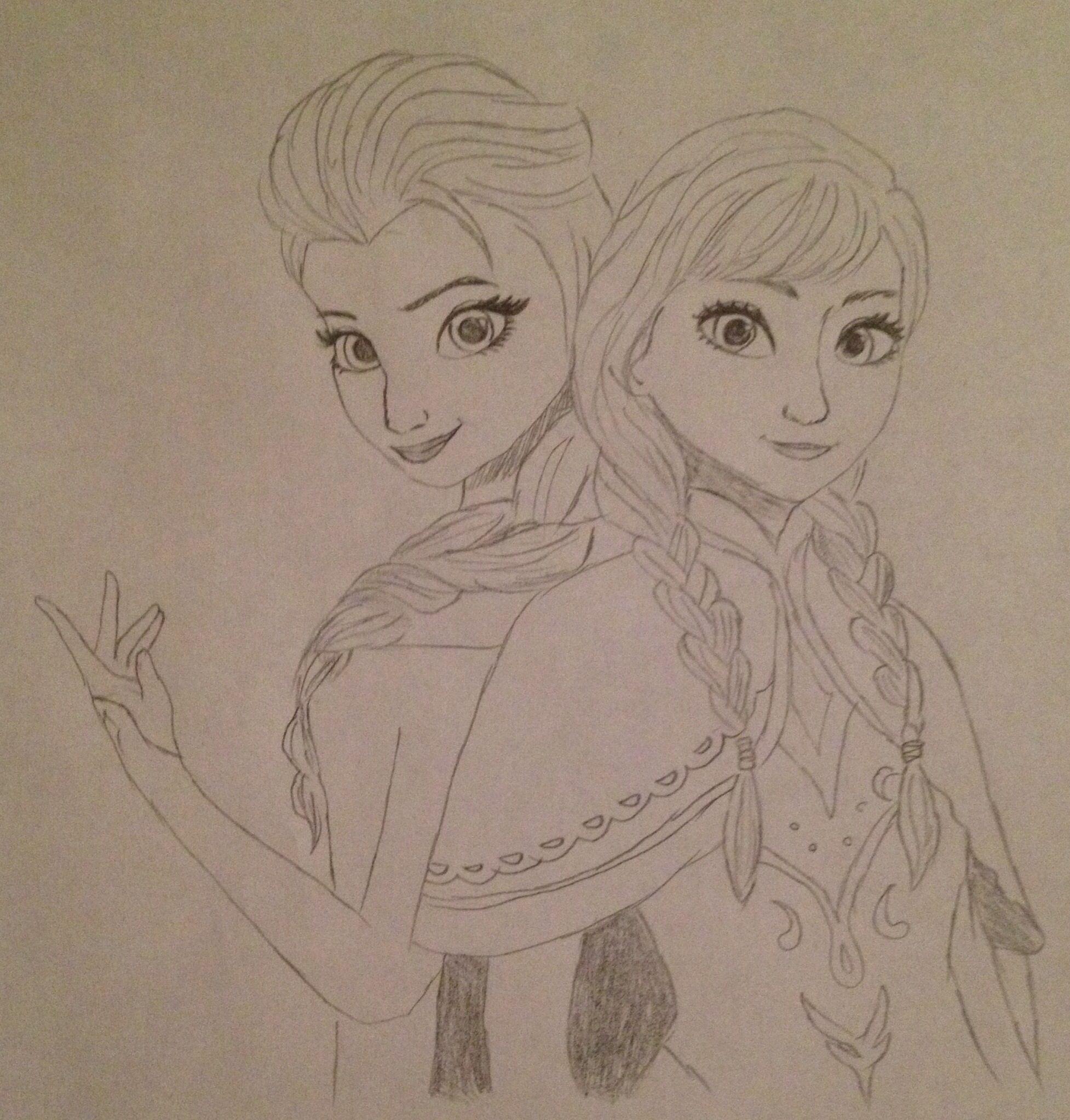 Frozen elsa and anna art pinterest