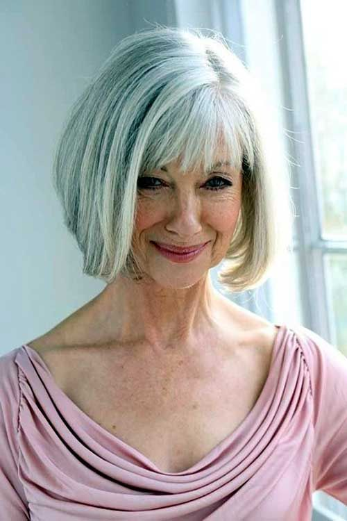 Nice Bob Haircuts For Older Ladies Bob Haircut And Hairstyle Ideas Older Women Hairstyles Haircut For Older Women Silver Hair