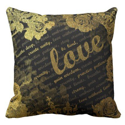 Breath Love Throw Pillow dorm decor college diy cyo
