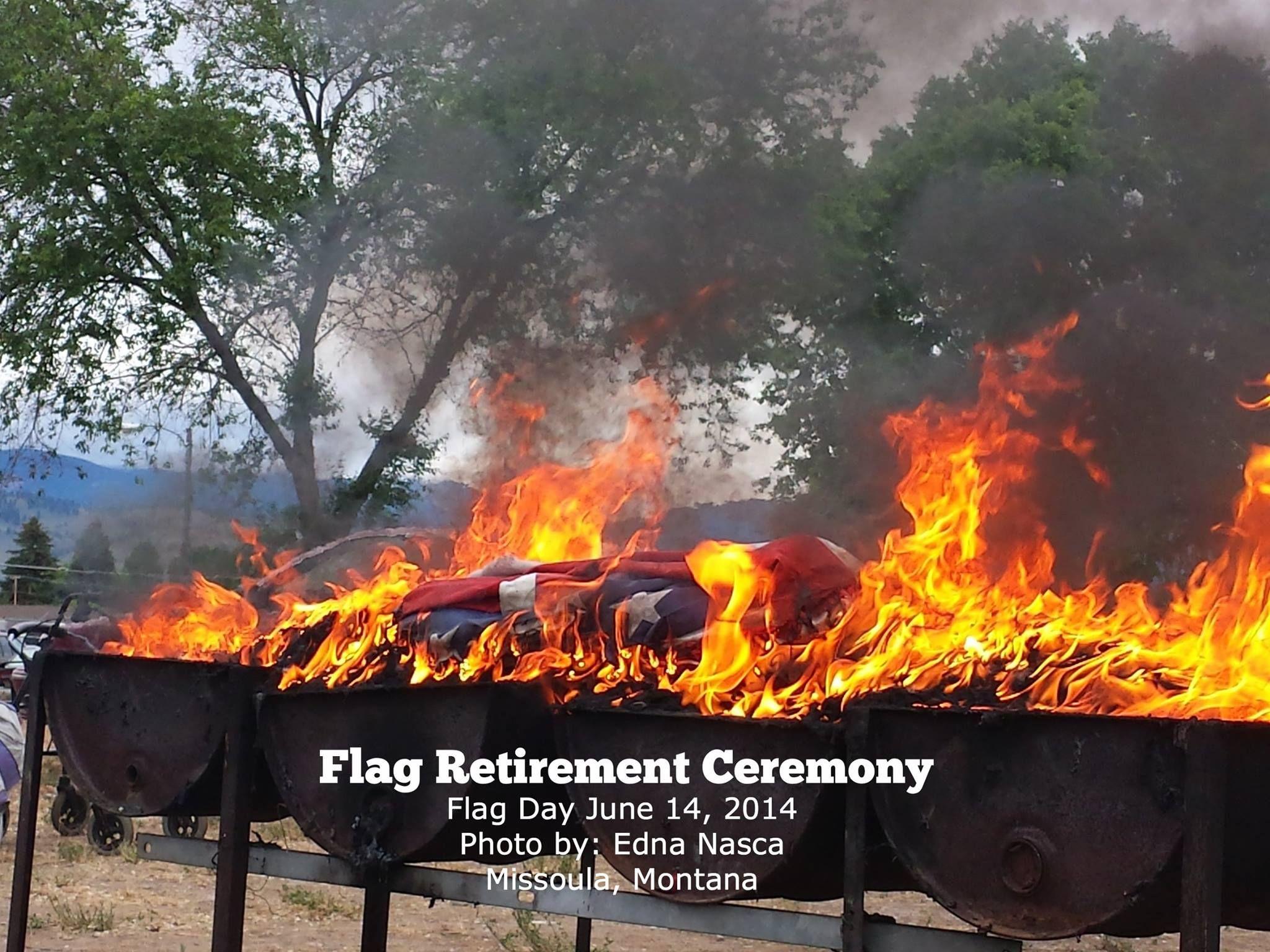 Flag retirement ceremony missoula montana june 14 2014