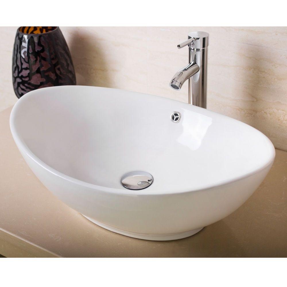 Morden White Ceramic Porcelain Bathroom Vessel Sink Bowl Basin W Faucet Drain Ebay Https Ift Tt Bathroom Sink Bowls Modern Bathroom Sink Vessel Sink Bathroom