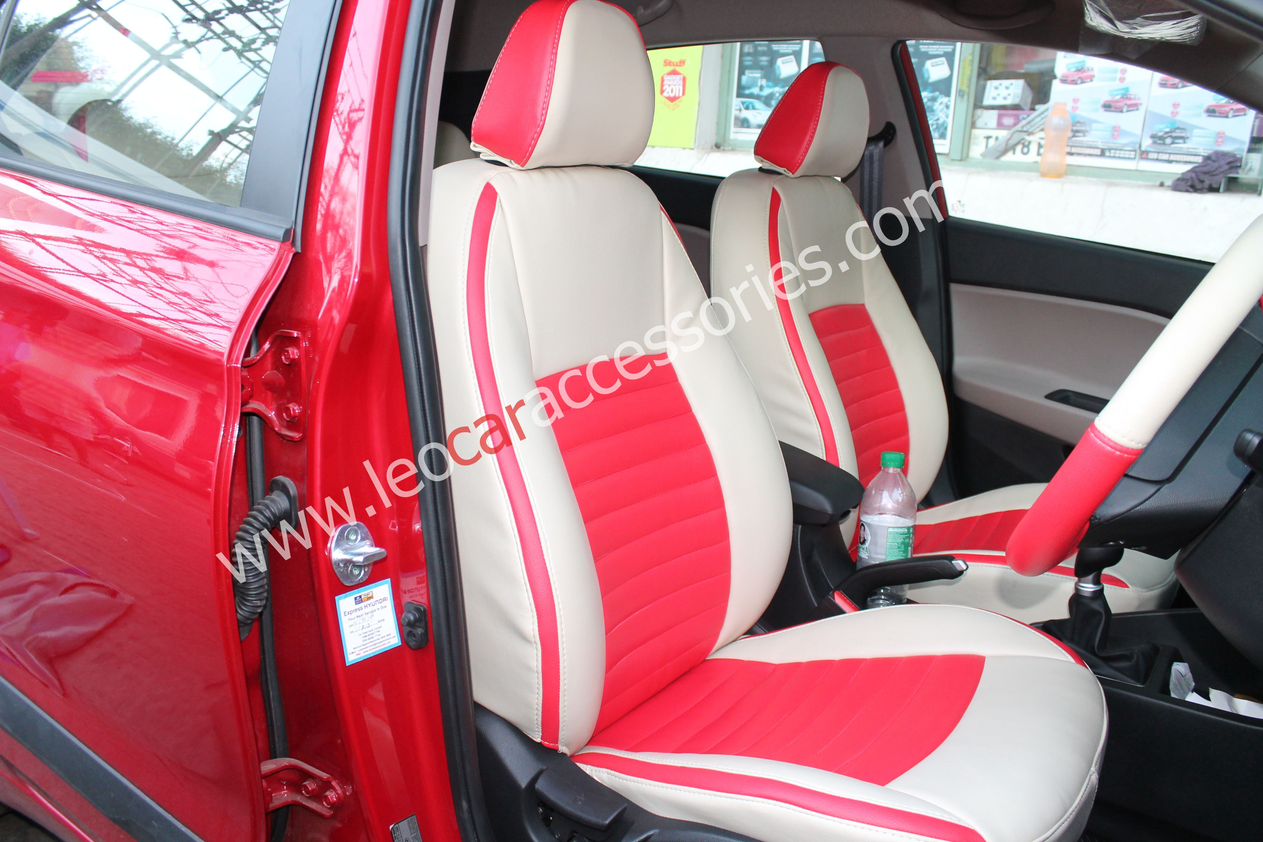 CAR SEAT COVERS fit Hyundai i20 red//black sport style full set