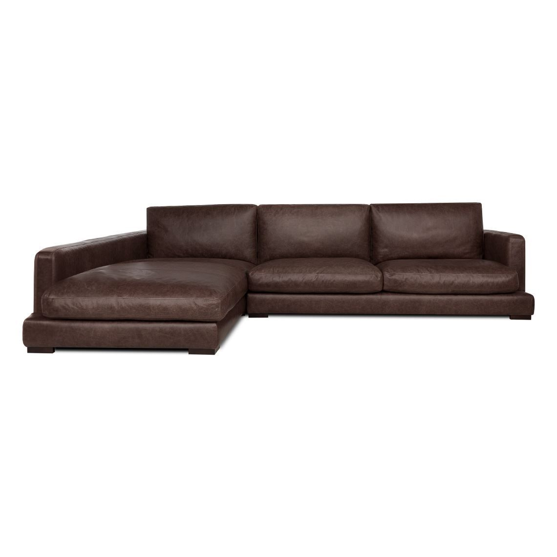 HAMILTON 3 Seat Leather Modular Sofa With Left Terminal | Products ...