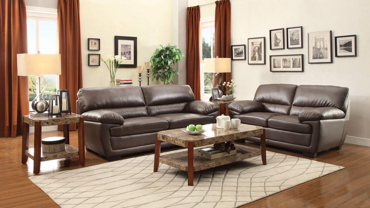 Adrian sofa u loveseat set brw loveseats