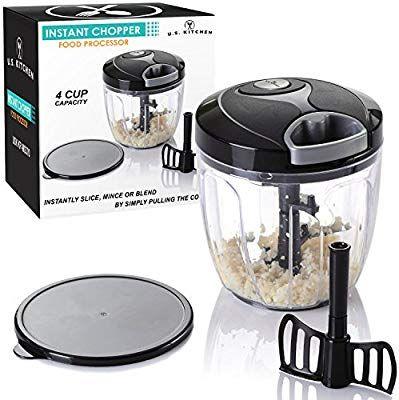 amazon com u s kitchen supply 4 cup instant chopper food processor rh pinterest com
