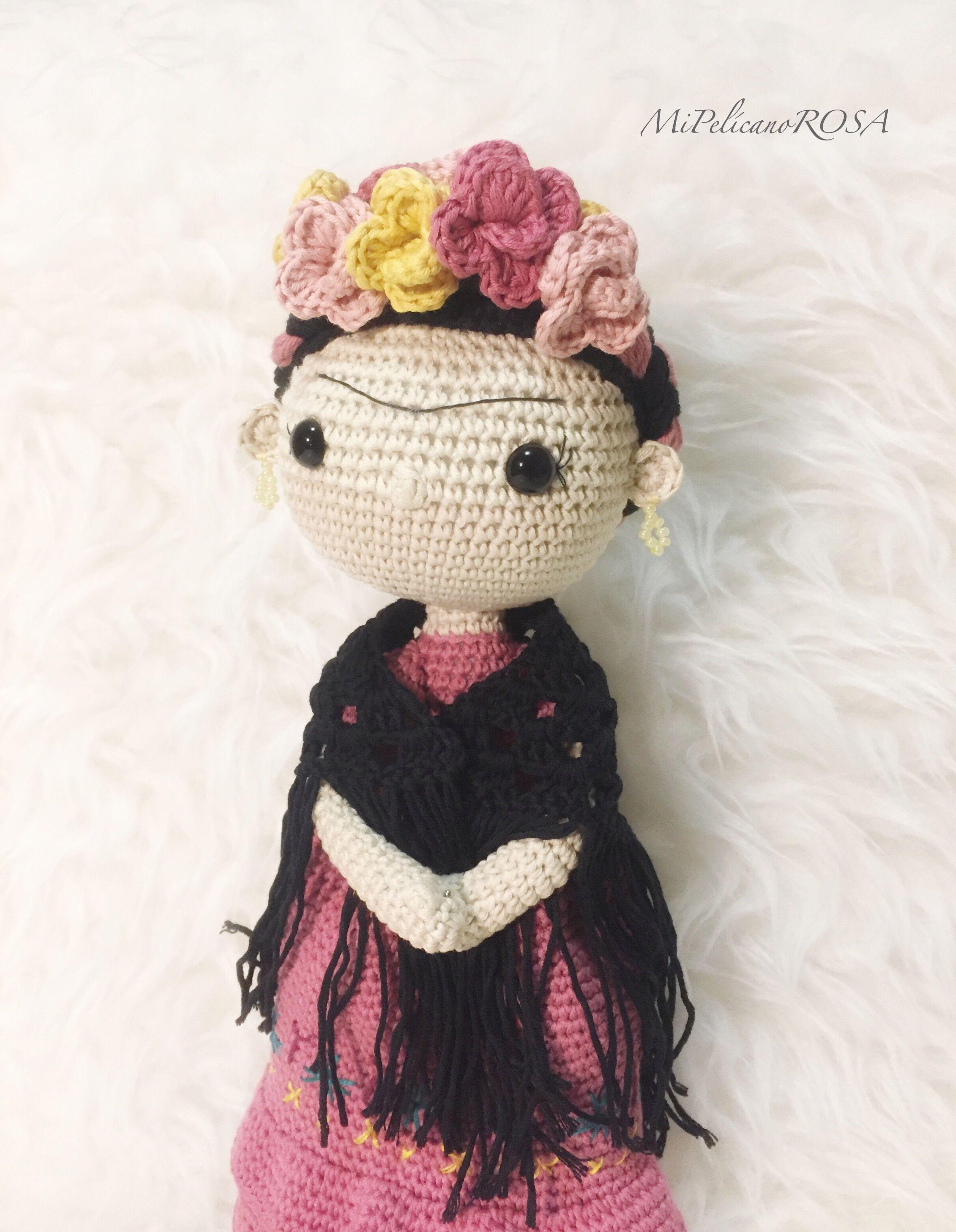 Frida Kahlo Doll - Amigurumi crochet pattern | 3126x2426