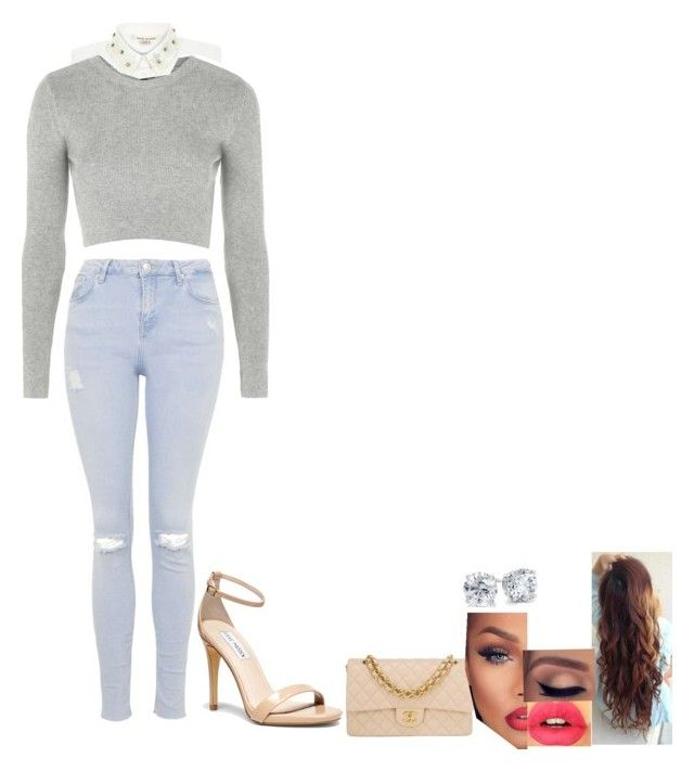 """""""Untitled #165"""" by your-kryptonite ❤ liked on Polyvore featuring River Island, Topshop, Steve Madden, Chanel, Girlactik and Blue Nile"""
