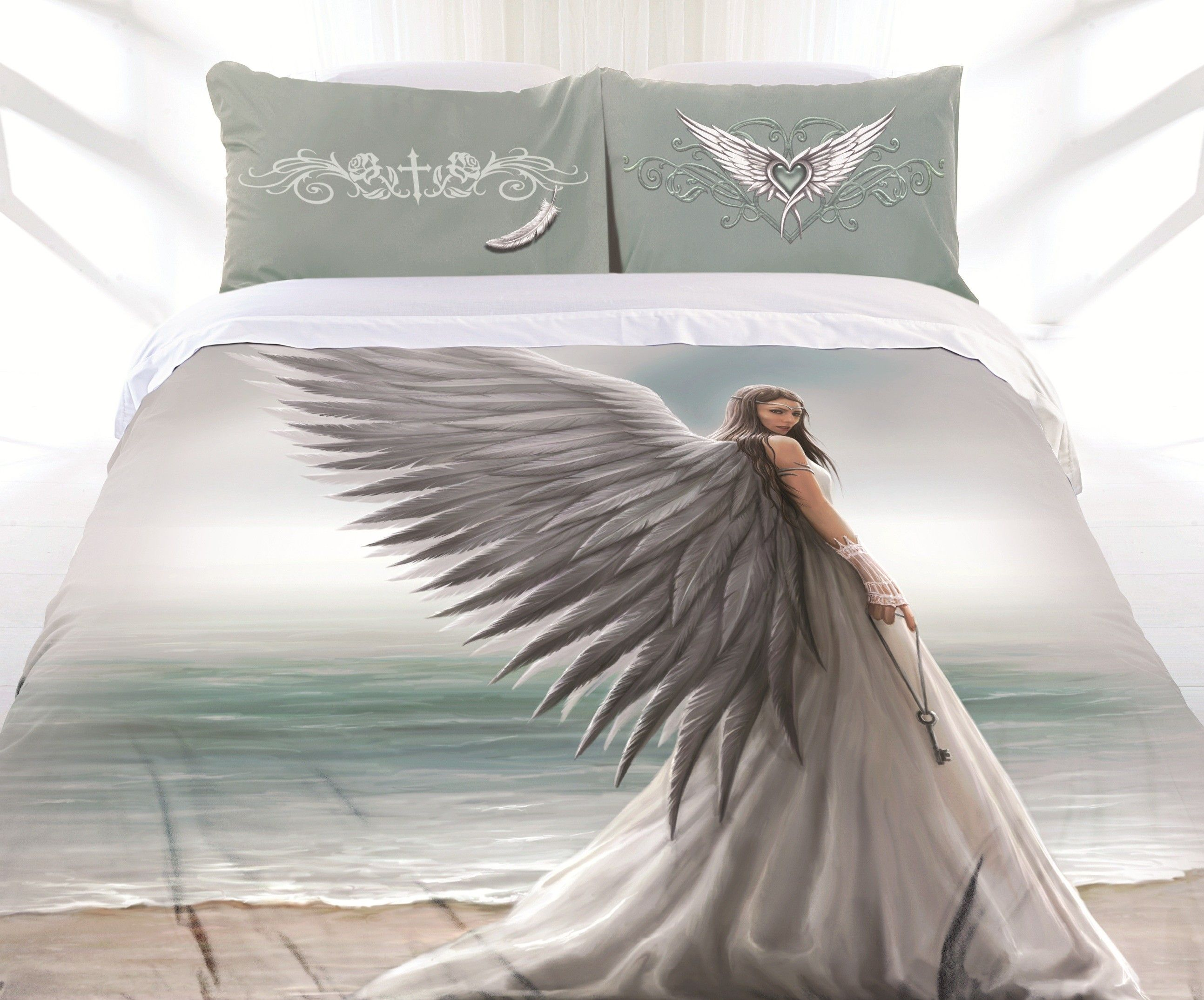 DOUBLE QUEEN KING Pure Heart Unicorn Quilt Cover Set by Anne Stokes