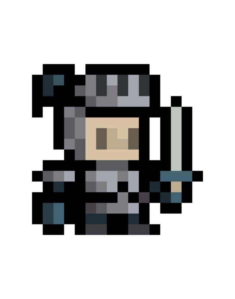 16x16 Knight Sprite By Obinsun Pixel Art Games Pixel Art Characters Pixel Art