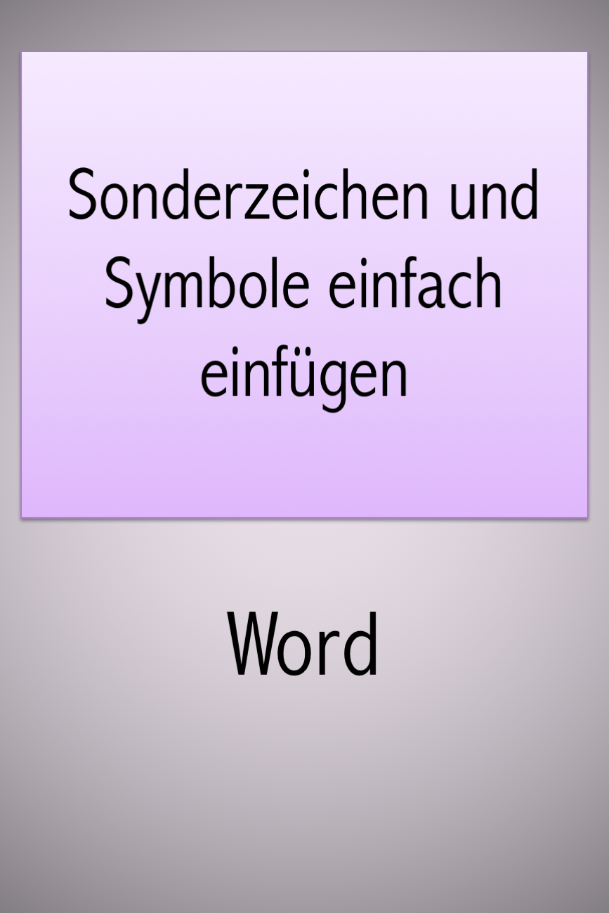 Word tips and tricks   Word Tips and Tricks Simply insert special ...