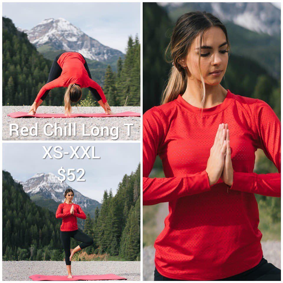New Long Sleeve Chill Tank just released😍 Love the look of this! I have the short sleeve and it's to...
