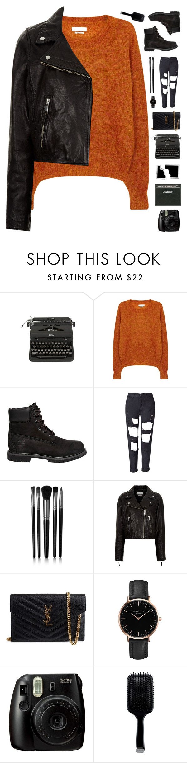 """Orange and Black"" by genesis129 on Polyvore featuring Étoile Isabel Marant, Timberland, Illamasqua, Yves Saint Laurent, Topshop, Fujifilm, GHD and vintage"