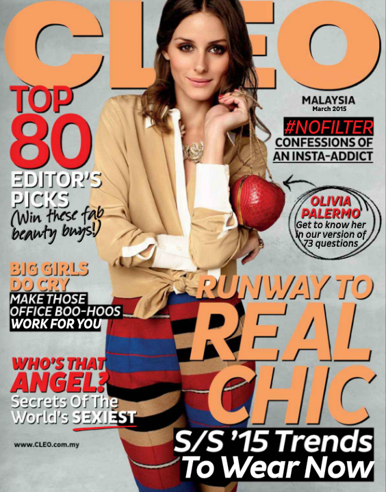 The Olivia Palermo Lookbook : Olivia Palermo For CLEO Malaysia March 2015 cover