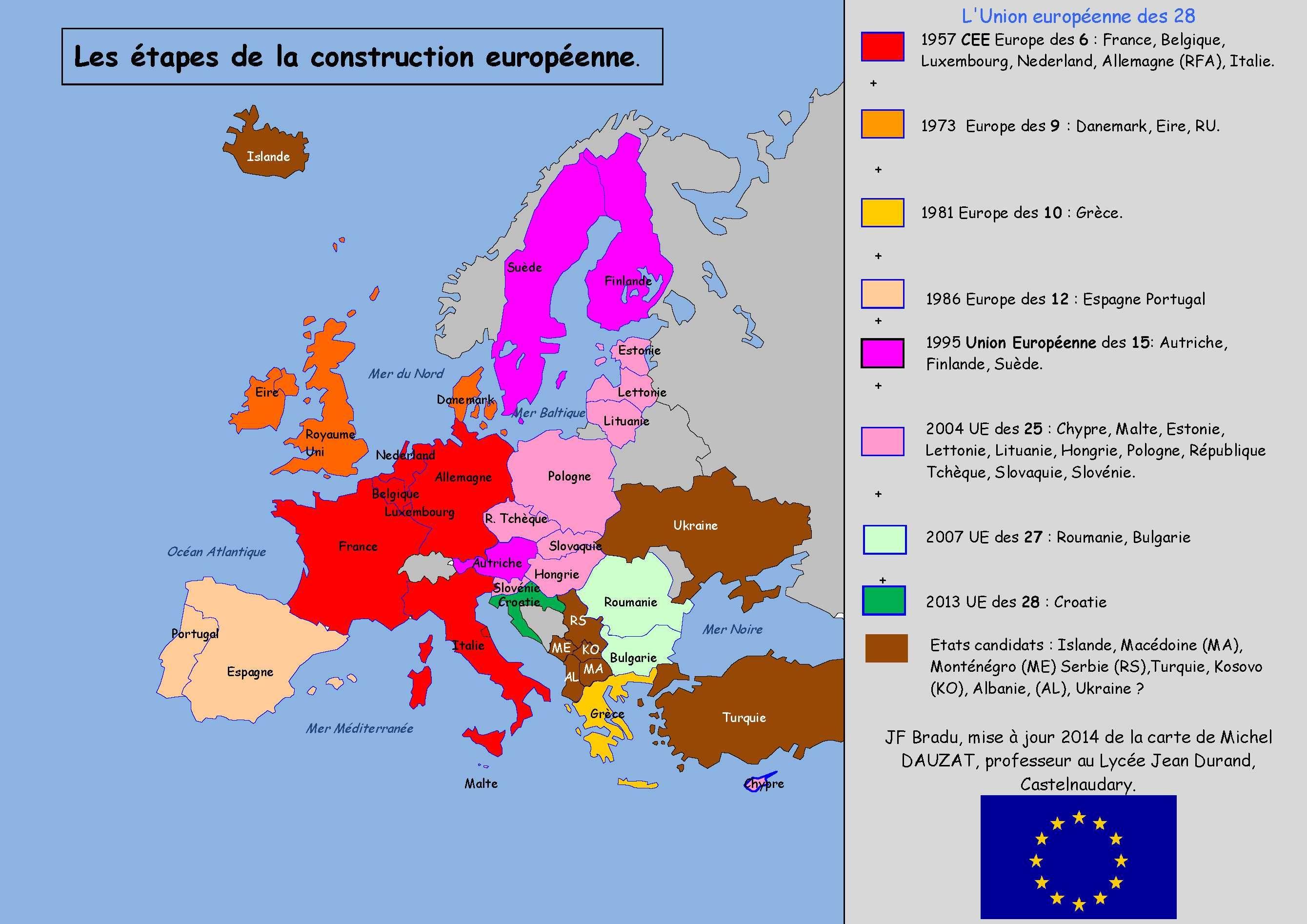 carte europe des 9