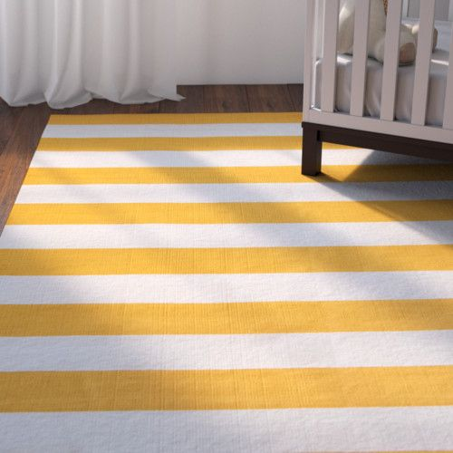 Found It At Wayfair Ike Hand Woven Yellow White Area Rug Area