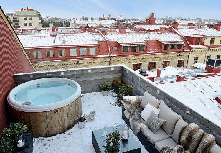 Dakterras Met Jacuzzi : Winter dakterras met jacuzzi terrace balcony winter balcony