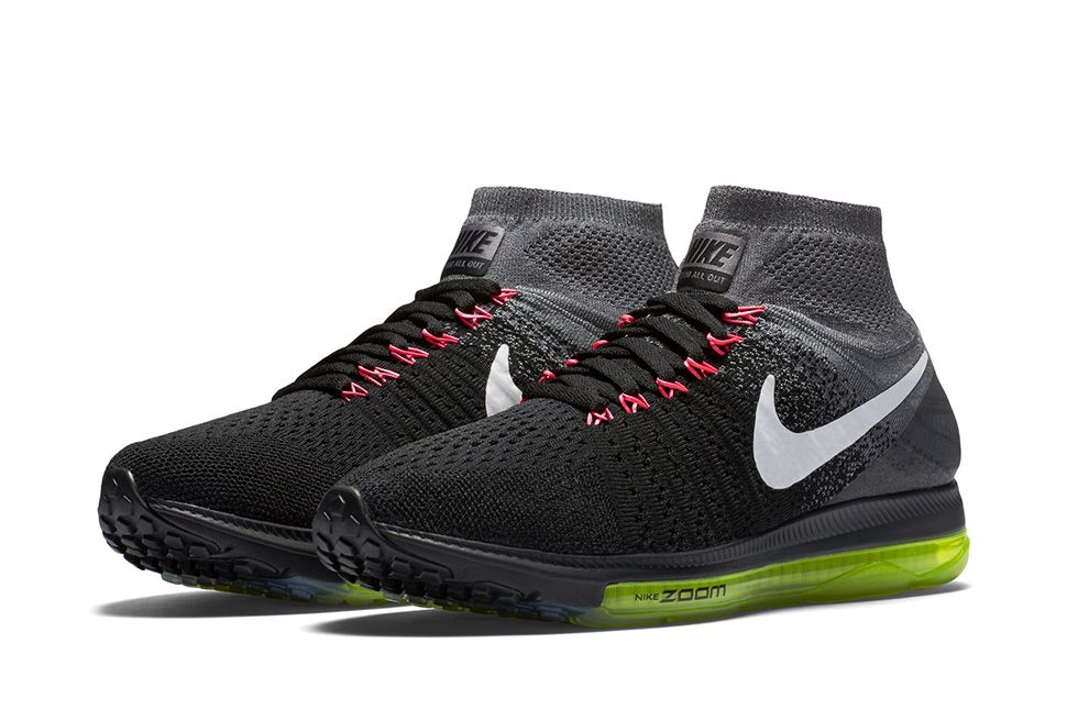 new product e97f3 1b66f Nike-Zoom-All-Out-Flyknit-Black-Crimson-Volt-01