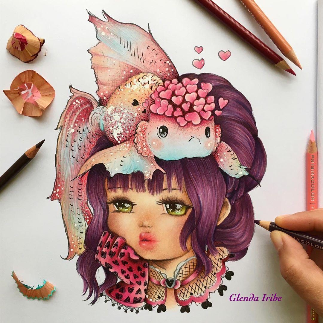 Gefallt 43 Mal 3 Kommentare Glenda Iribeglenda Auf Instagram Pop Manga Mermaids And Other Sea Mermaid Coloring Book Manga Mermaid Manga Coloring Book