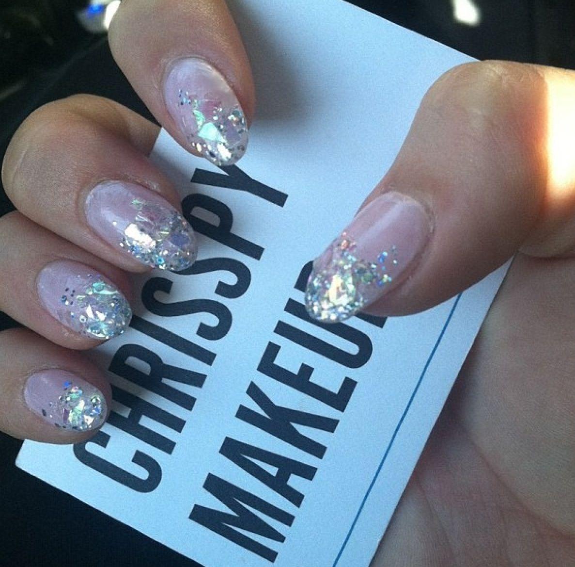 Glitter almond nails | Almond nails | Pinterest