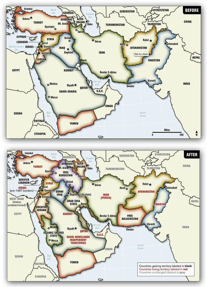 Middle Eastern Union West Redrawing Map Of Middle East At Will