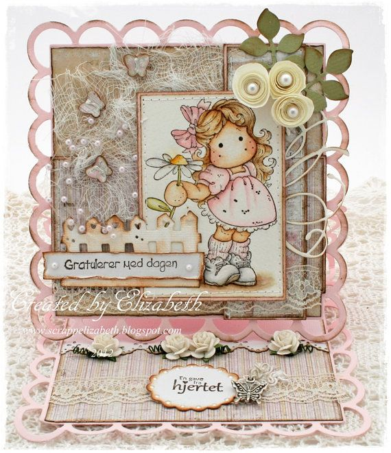 Birthday themed easel card by Cardville on Etsy, $14.95