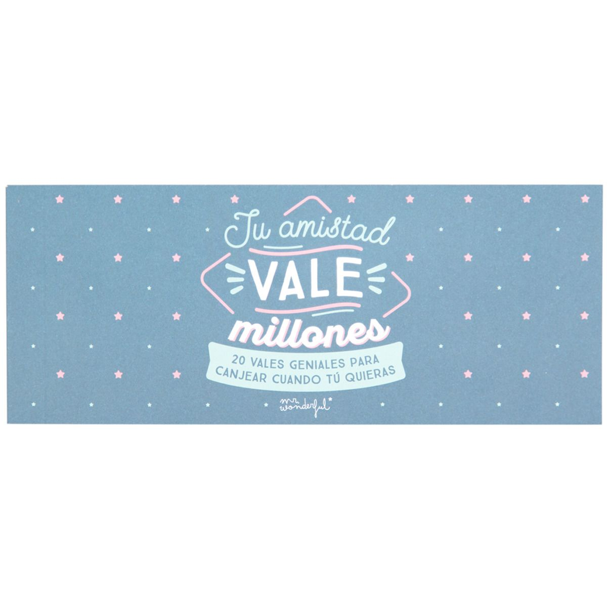 Vale Amigas Mr Wonderful Tu Amistad Vale Millones Vale Regalo  ~ Comprar Agenda Mr Wonderful El Corte Ingles