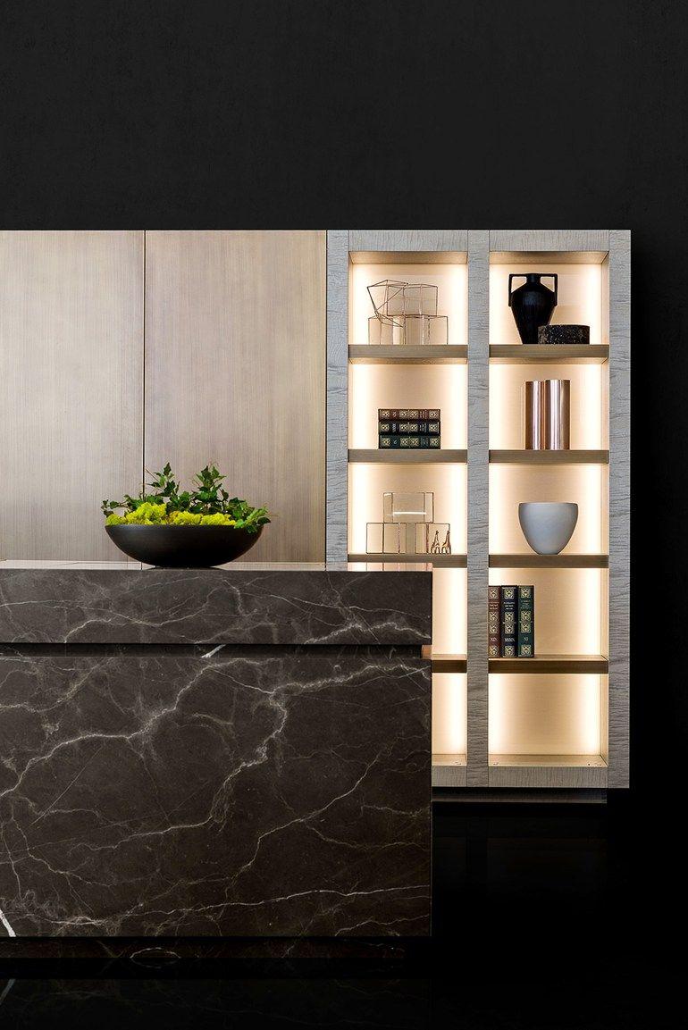 Natural stone kitchen with island NEOLITE - TM Italia Cucine ...
