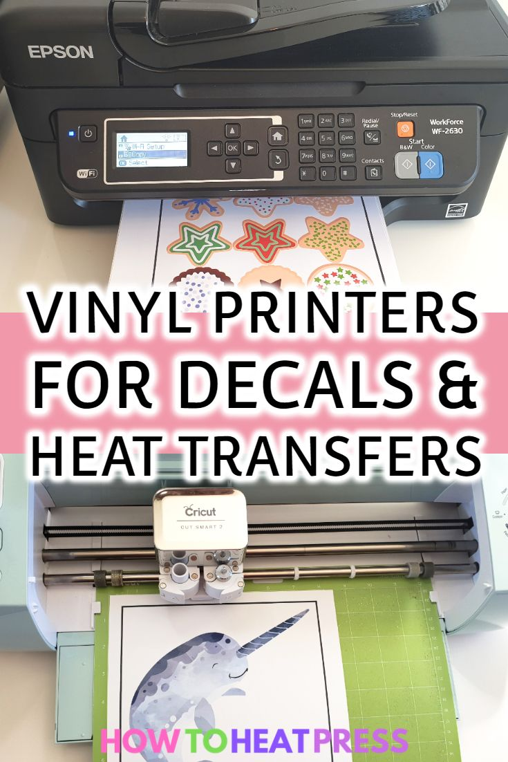 The Best Vinyl Printer – Print Your Own Decals & Heat Transfers! #cricutvinylprojects