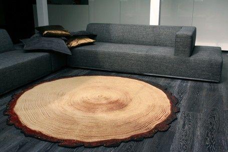 Ausgefallene Teppiche woody wood design teppich als baumstamm wood wood wood