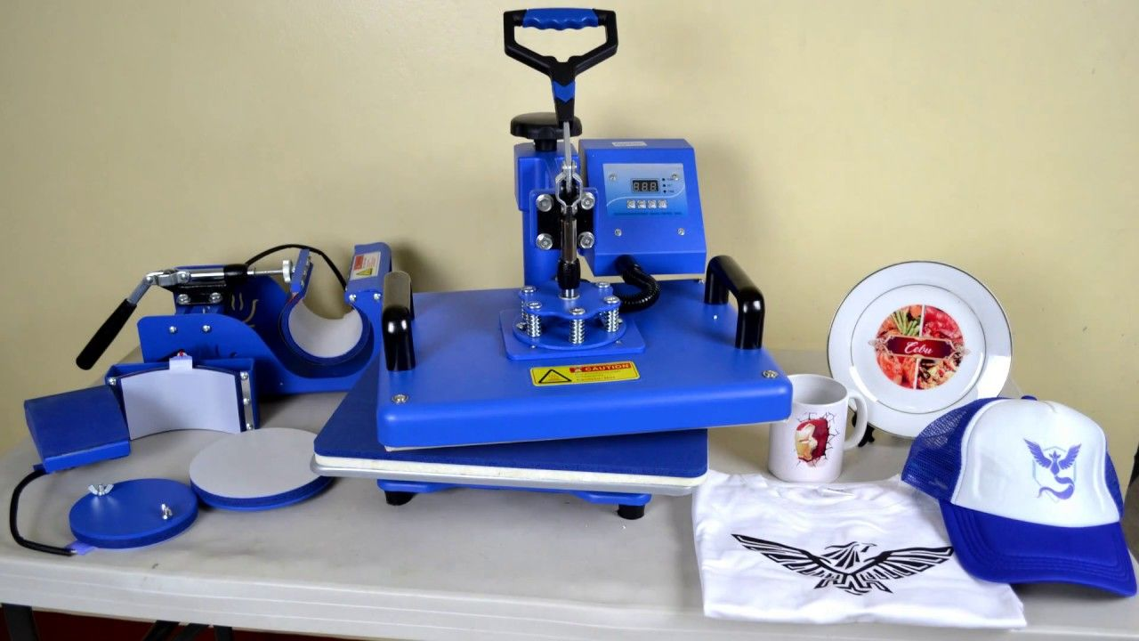 6 in 1 sapphire multifunction heat press machine printing