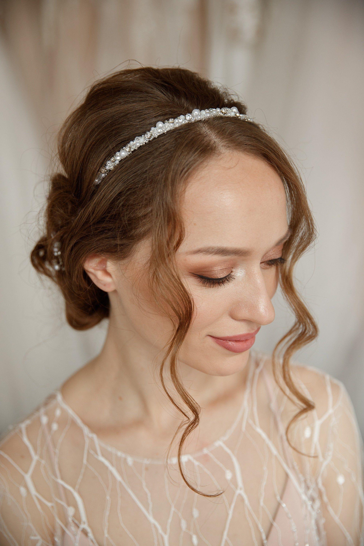 Boho Pearl Bridal Headband Wedding Hair Accessories   Etsy