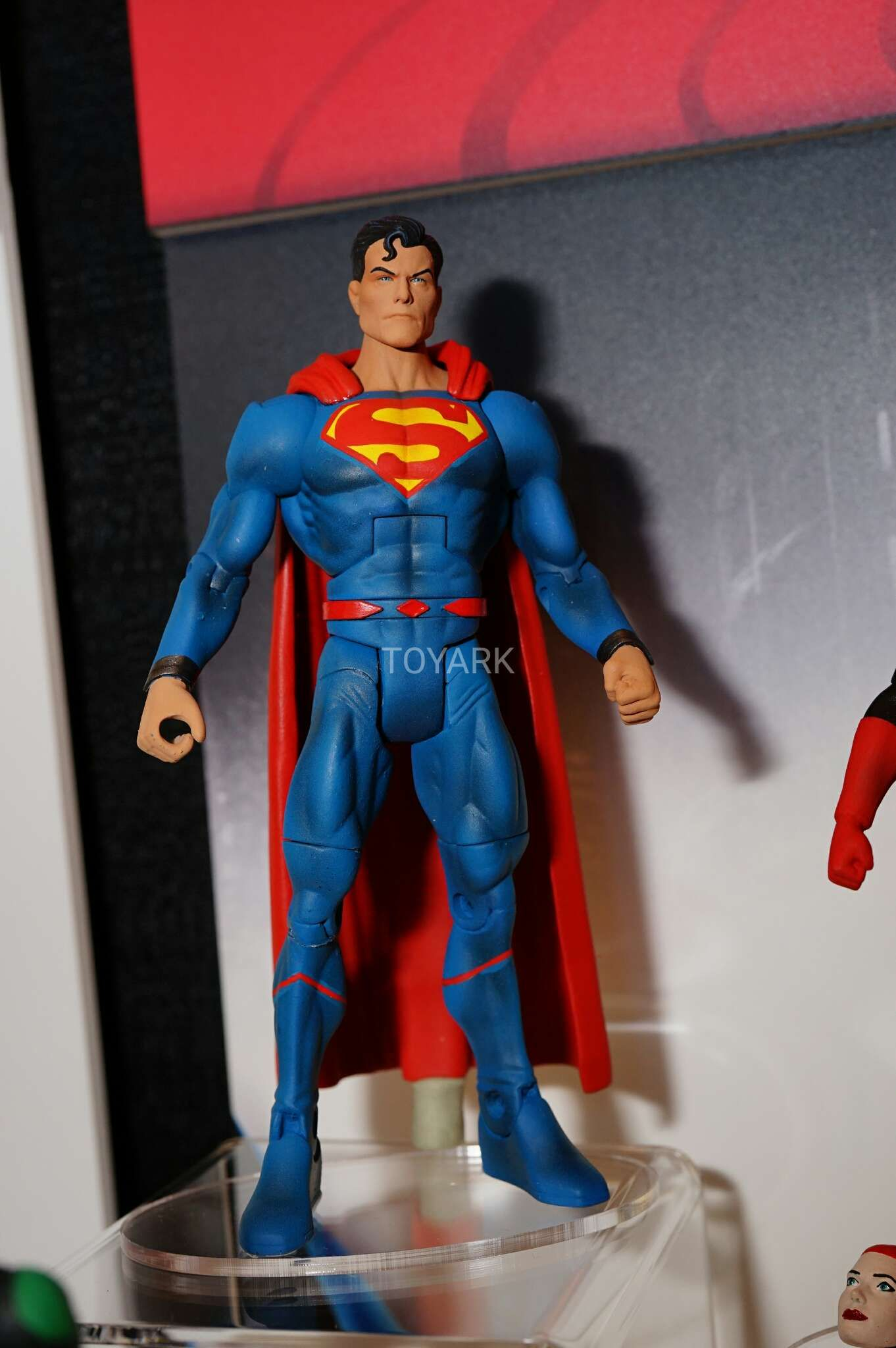 Mattel Had A Bunch Of Dc Comics Dc Movies And Dc Cartoon Figures On Display At Toy Fai Batman And Superman Justice League Action Figures Superman Wonder Woman