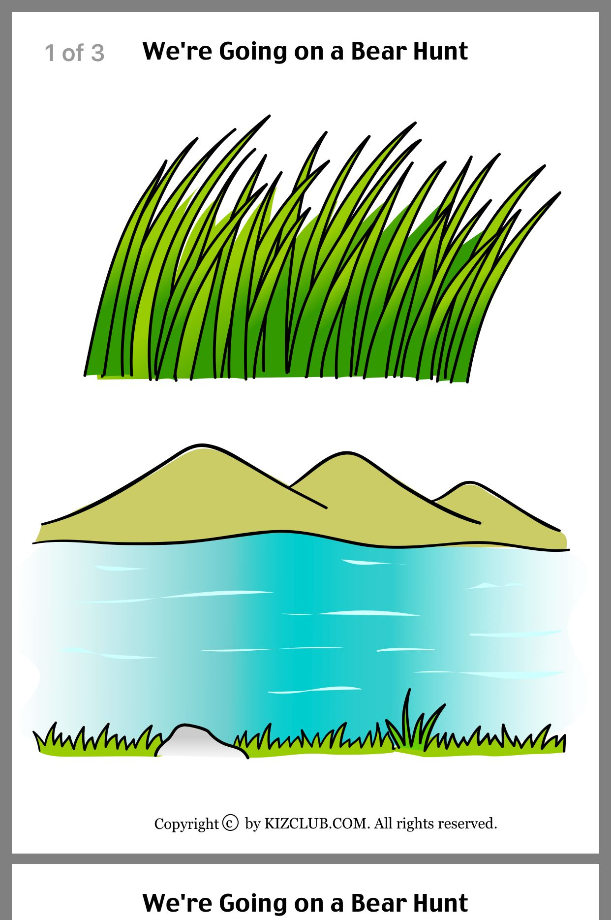 We Re Going On A Bear Hunt Free Printable Backgrounds For