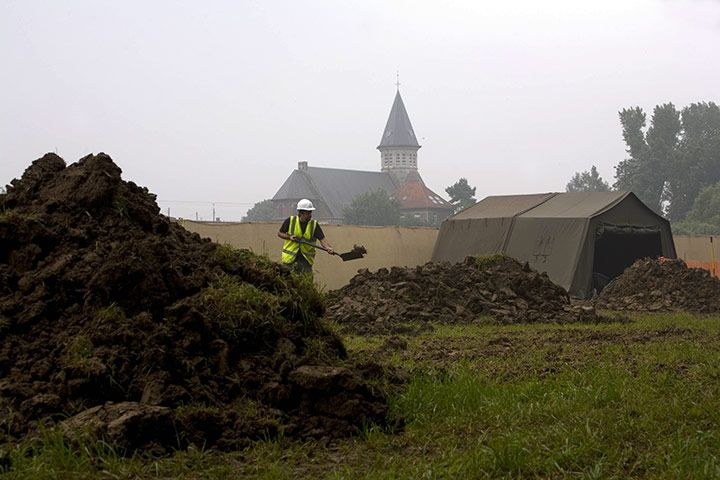 August 2008: Archaeologists at the site of a mass grave containing the bodies of Australian and British troops killed at Fromelles during the first world war  Martin Argles/The Guardian