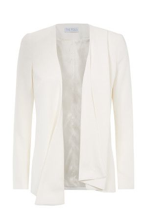 Le Marais draped jacket in white is the perfect way to update your work wardrobe for Spring.