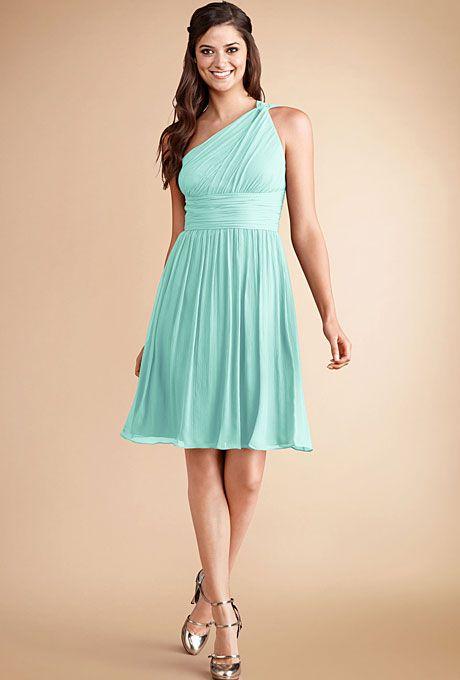 One-Shoulder Bridesmaid Dresses | Navy blue bridesmaid dresses ...