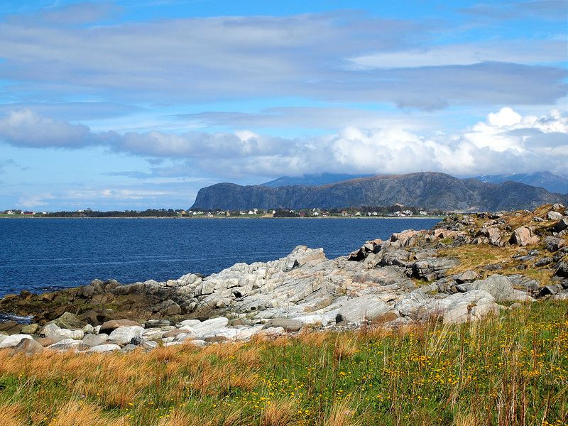 The view in Alnes, Norway